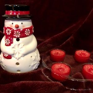 Yankee Candle snowman gift set